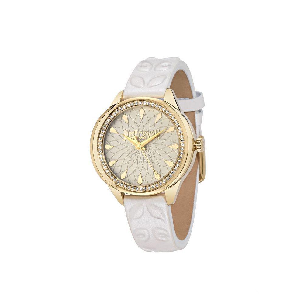 Часы наручные женские Just Cavalli JC01, цвет: белый. R7251571504R7251571504стразы из стекла, ПВД покрытие золотом
