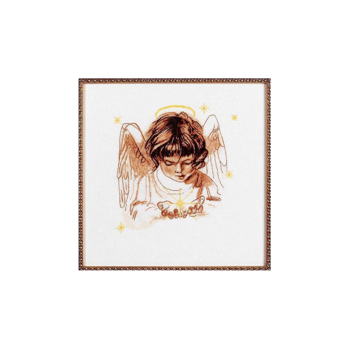 Набор для вышивания Alisena Звездочка в ладошках, 22 x 22 см383104
