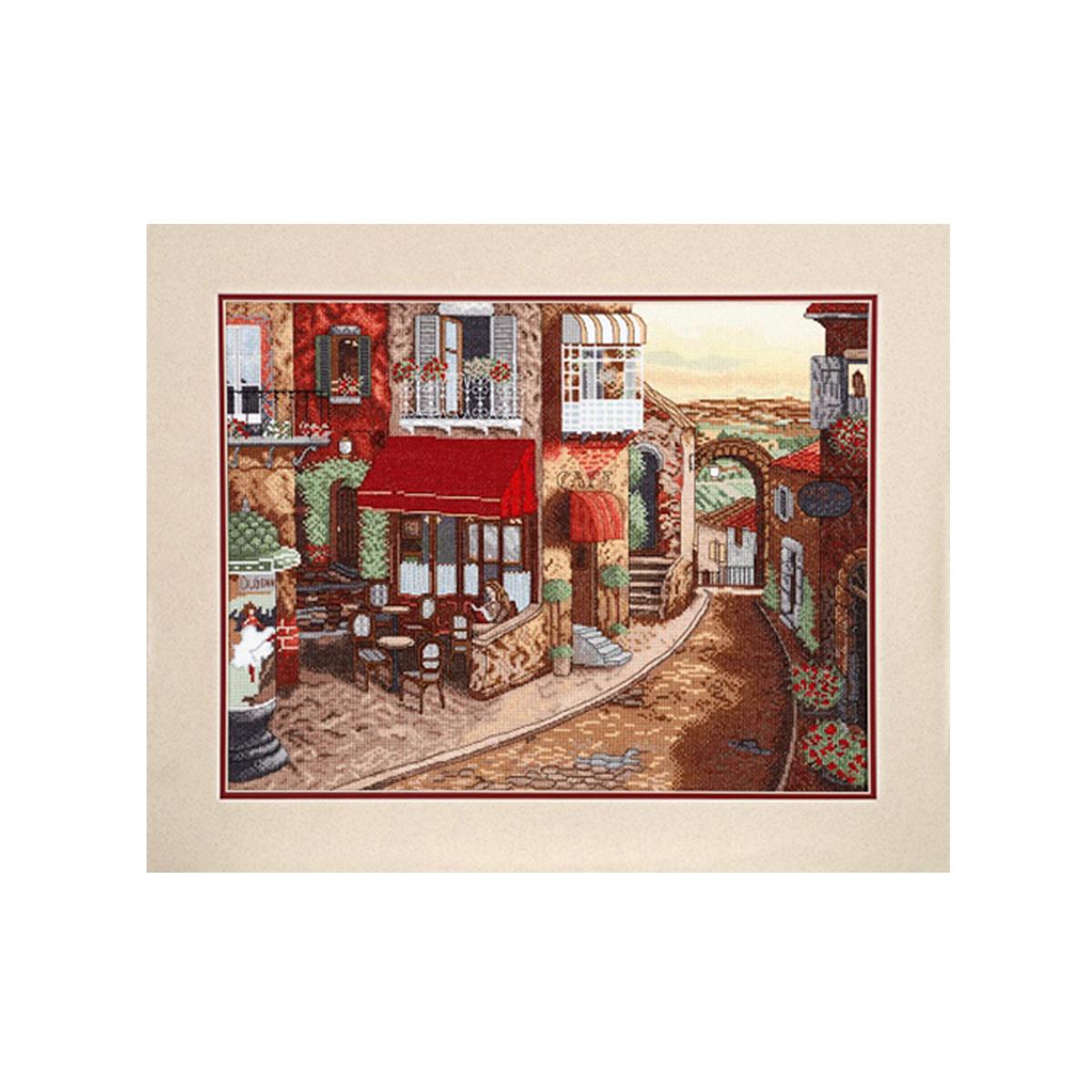 Набор для вышивания Alisena Улочка, 31 x 41 см488062