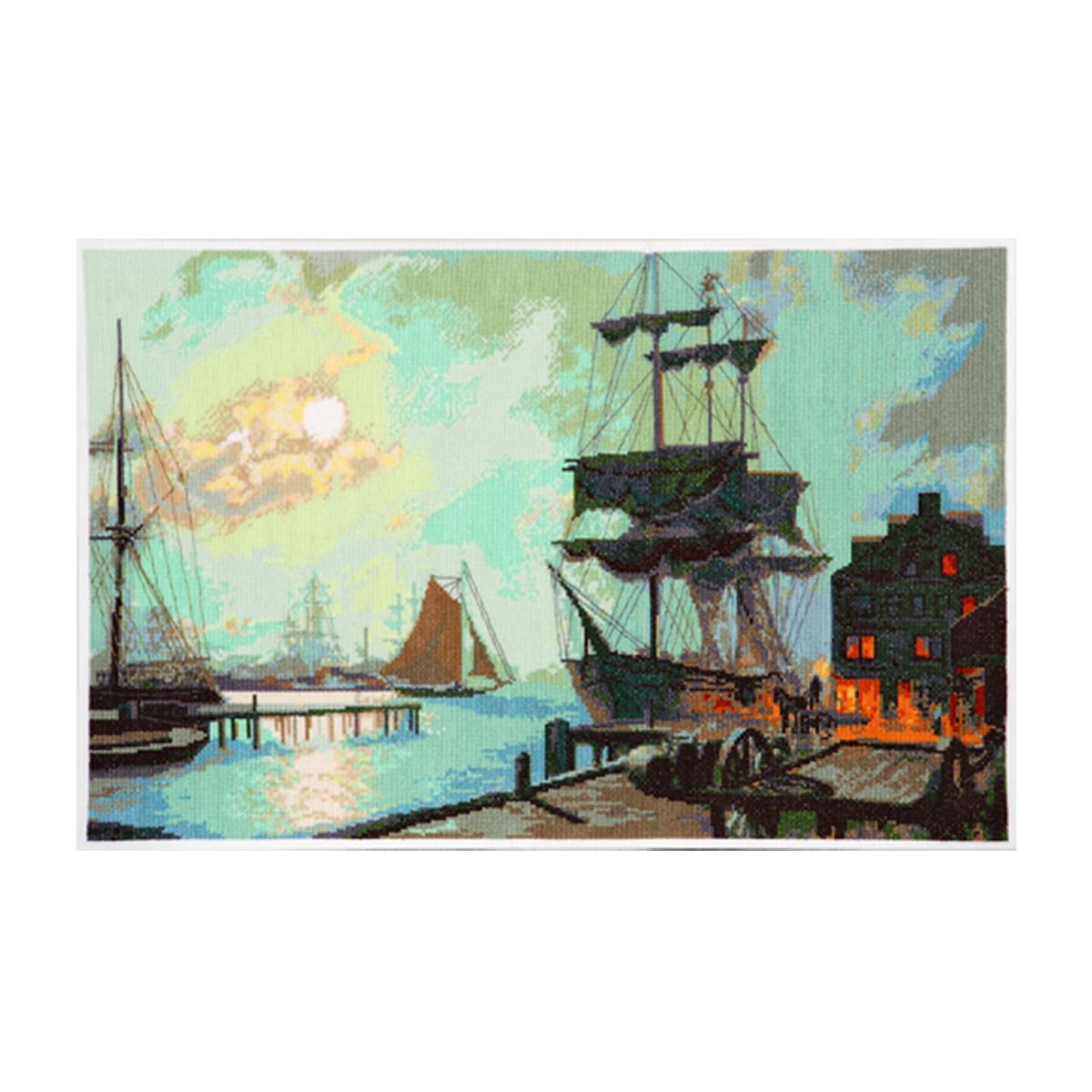 Набор для вышивания Alisena Ночь в порту, 46 x 30 см488064
