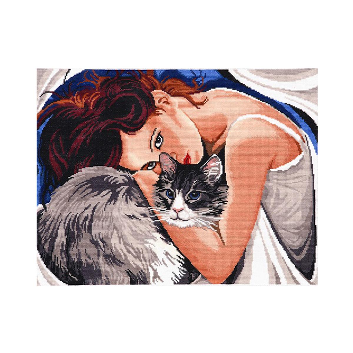 Набор для вышивания Alisena Одиночество вдвоем, 30 x 39 см488070