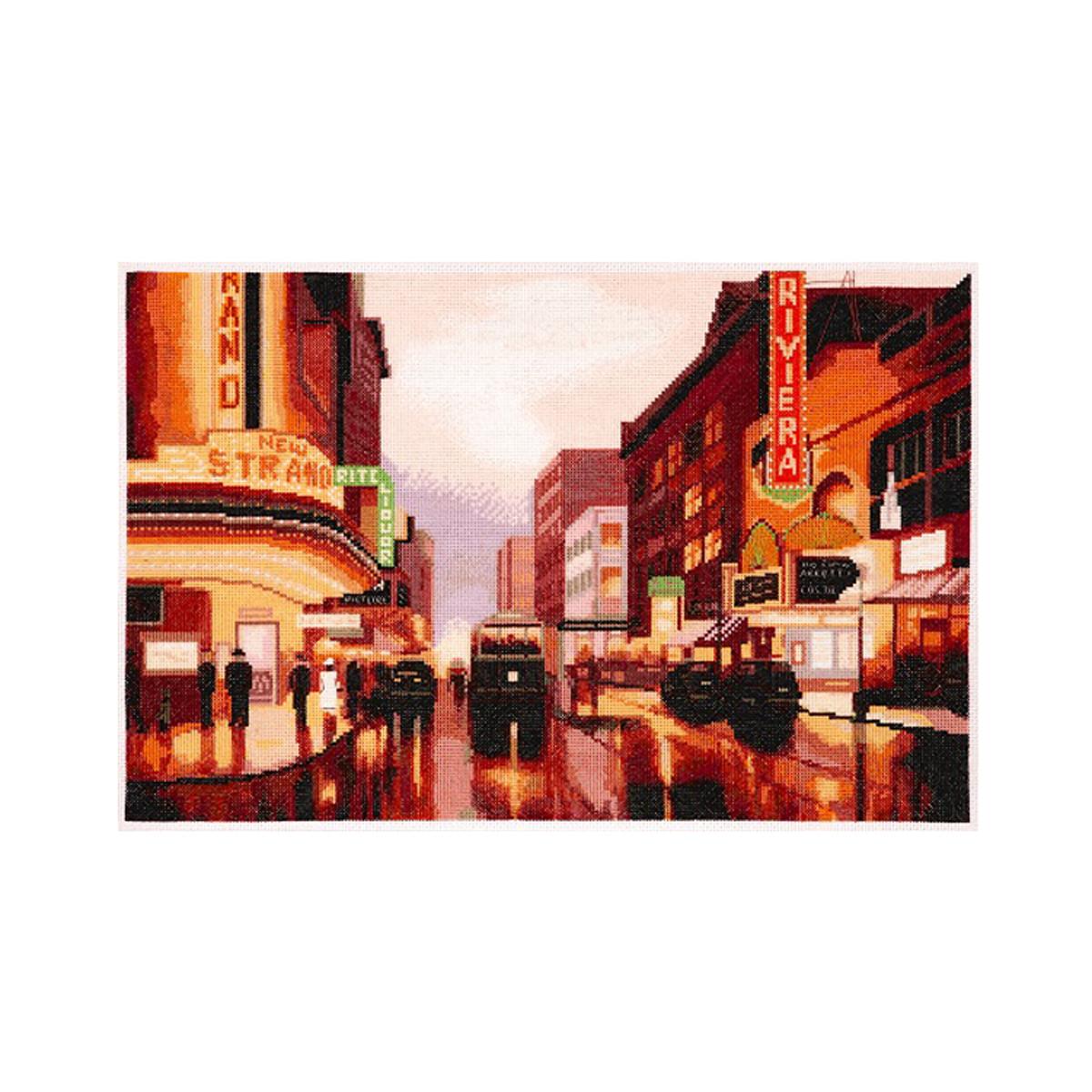 Набор для вышивания Alisena Огни большого города, 39 x 26 см488074