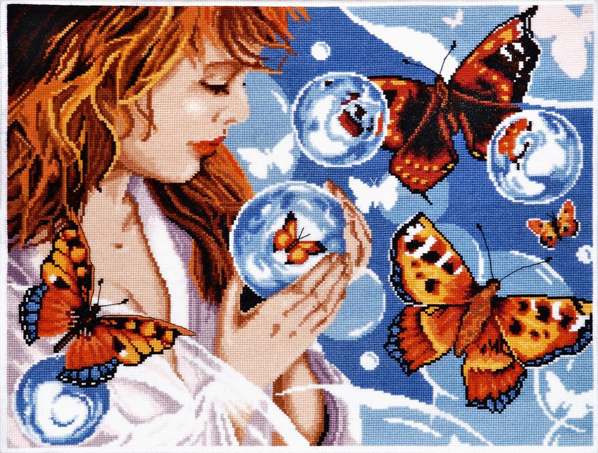 Набор для вышивания Alisena Фантазия с бабочками, 38 x 28 см547775