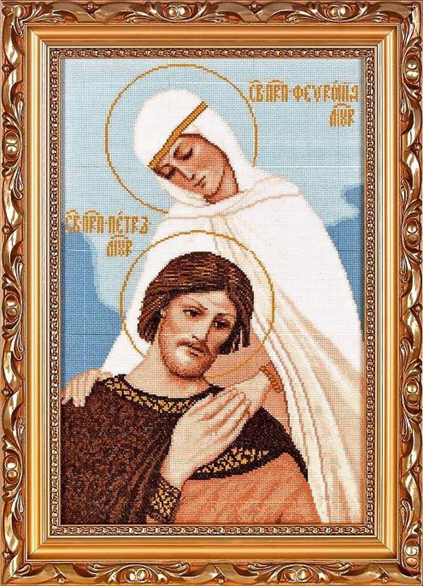 Набор для вышивания Alisena Петр и Феврония, 24 x 37 см688687