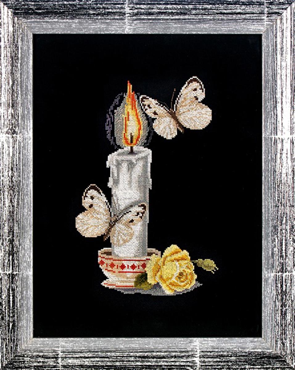 Набор для вышивания Alisena Свеча с бабочками, 16 x 25 см688794