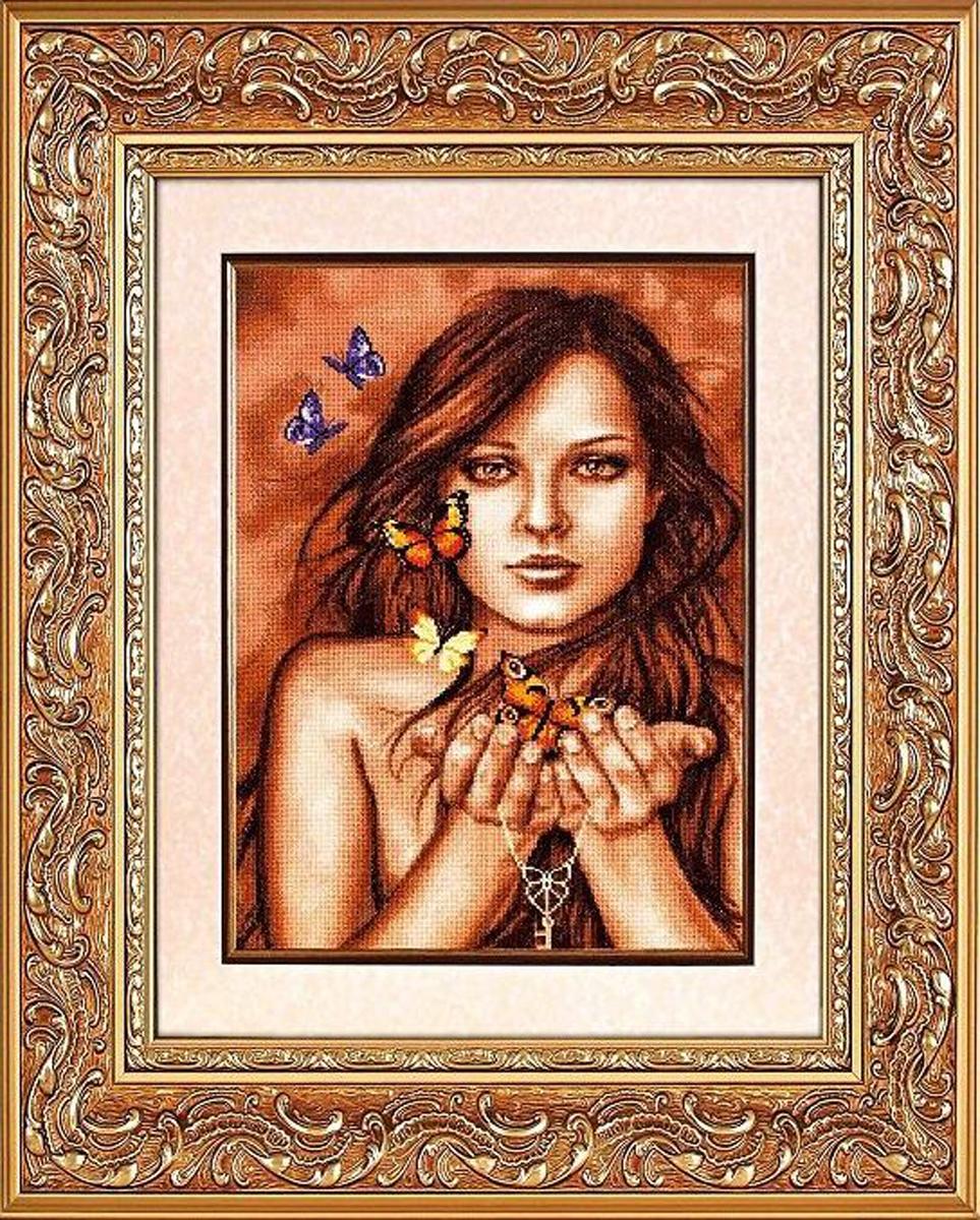 Набор для вышивания Alisena Бабочки на ладонях, 28 x 40 см688798
