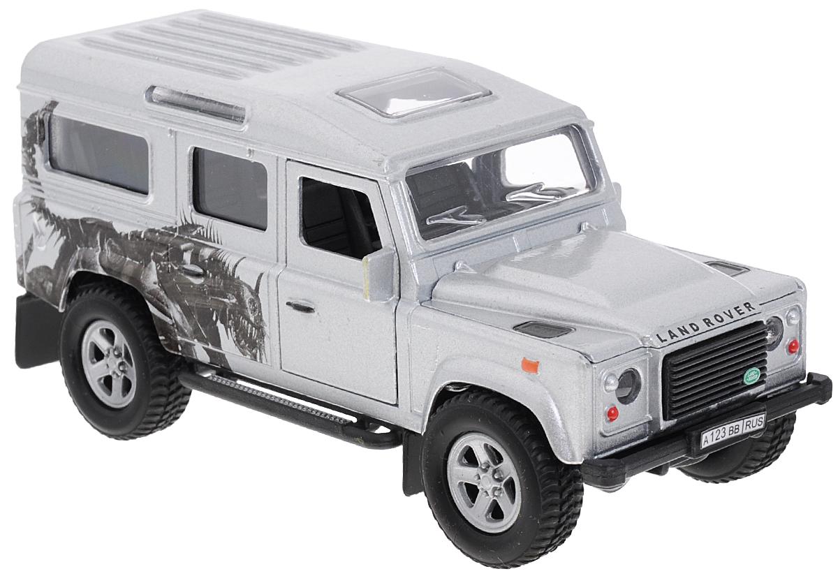 Пламенный мотор Машинка инерционная Land Rover Defender Трансформер87510Инерционная машинка Пламенный мотор Land Rover Defender: Трансформер, выполненная из металла, пластика и резины, станет любимой игрушкой вашего малыша. Игрушка представляет собой модель внедорожника Land Rover Defender в масштабе 1:32. Передние дверцы модели открываются, а прорезиненные колеса обеспечивают надежное сцепление с любой поверхностью пола. При нажатии на капот мигают фары, звучит музыка и рокот мотора. Модель оснащена инерционным ходом: достаточно немного отвести ее назад, а затем отпустить - машинка быстро поедет вперед. Ваш ребенок будет часами играть с этой машинкой, придумывая различные истории. Порадуйте его таким замечательным подарком! Для работы игрушки необходимы 3 батарейки типа LR41 (товар комплектуется демонстрационными).