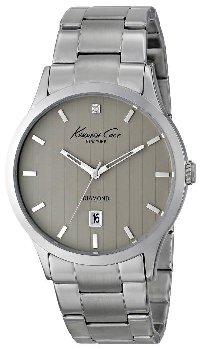 Часы мужские наручные Kenneth Cole Rock Out-Diamond Collection, цвет: серебристый. IKC9368IKC9368Часы наручные Kenneth Cole IKC9368 Водостойкость: 30м (3 АТМ)