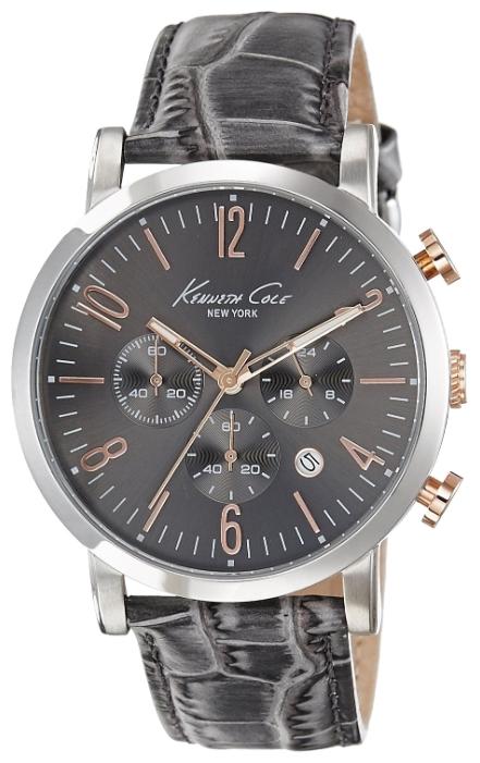 Часы мужские наручные Kenneth Cole Dress Sport, цвет: серый. 1002082510020825Часы наручные Kenneth Cole 10020825 Водостойкость: 30м (3 АТМ)