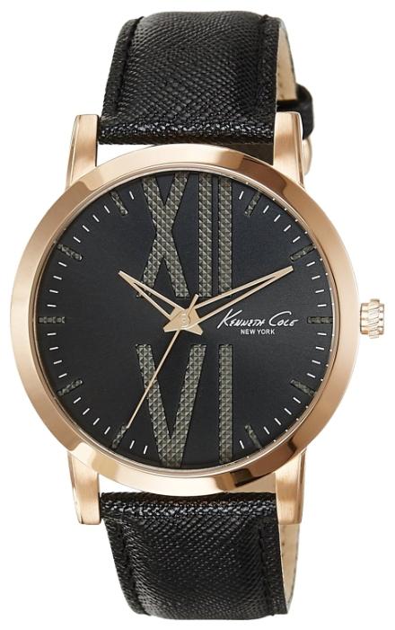 Часы мужские наручные Kenneth Cole Classic, цвет: черный. 1001480910014809Часы наручные Kenneth Cole 10014809 Водостойкость: 30м (3 АТМ)
