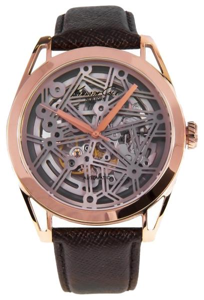Часы мужские наручные Kenneth Cole Automatics, цвет: коричневый. IKC8082IKC8082Часы наручные Kenneth Cole IKC8082 Водостойкость: 30м (3 АТМ)