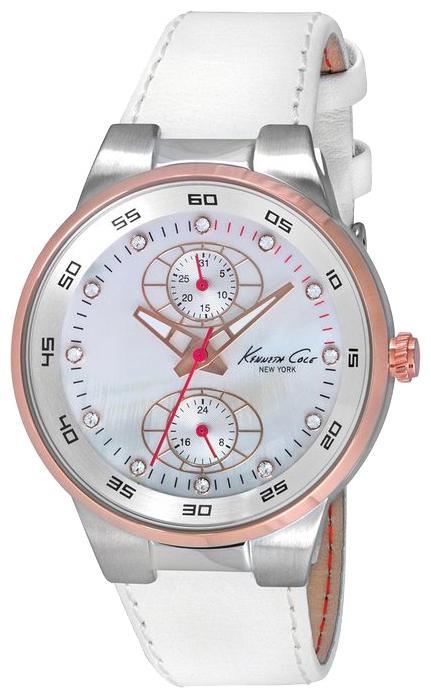Часы женские наручные Kenneth Cole Dress Sport, цвет: белый. IKC2862IKC2862Часы наручные Kenneth Cole IKC2862 Водостойкость: 30м (3 АТМ)