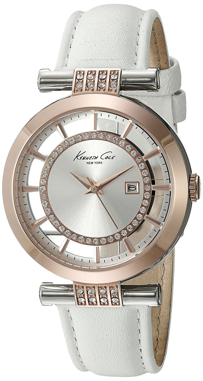 Часы женские наручные Kenneth Cole Classic, цвет: белый. 1002085010020850Часы наручные Kenneth Cole 10020850 Водостойкость: 30м (3 АТМ)