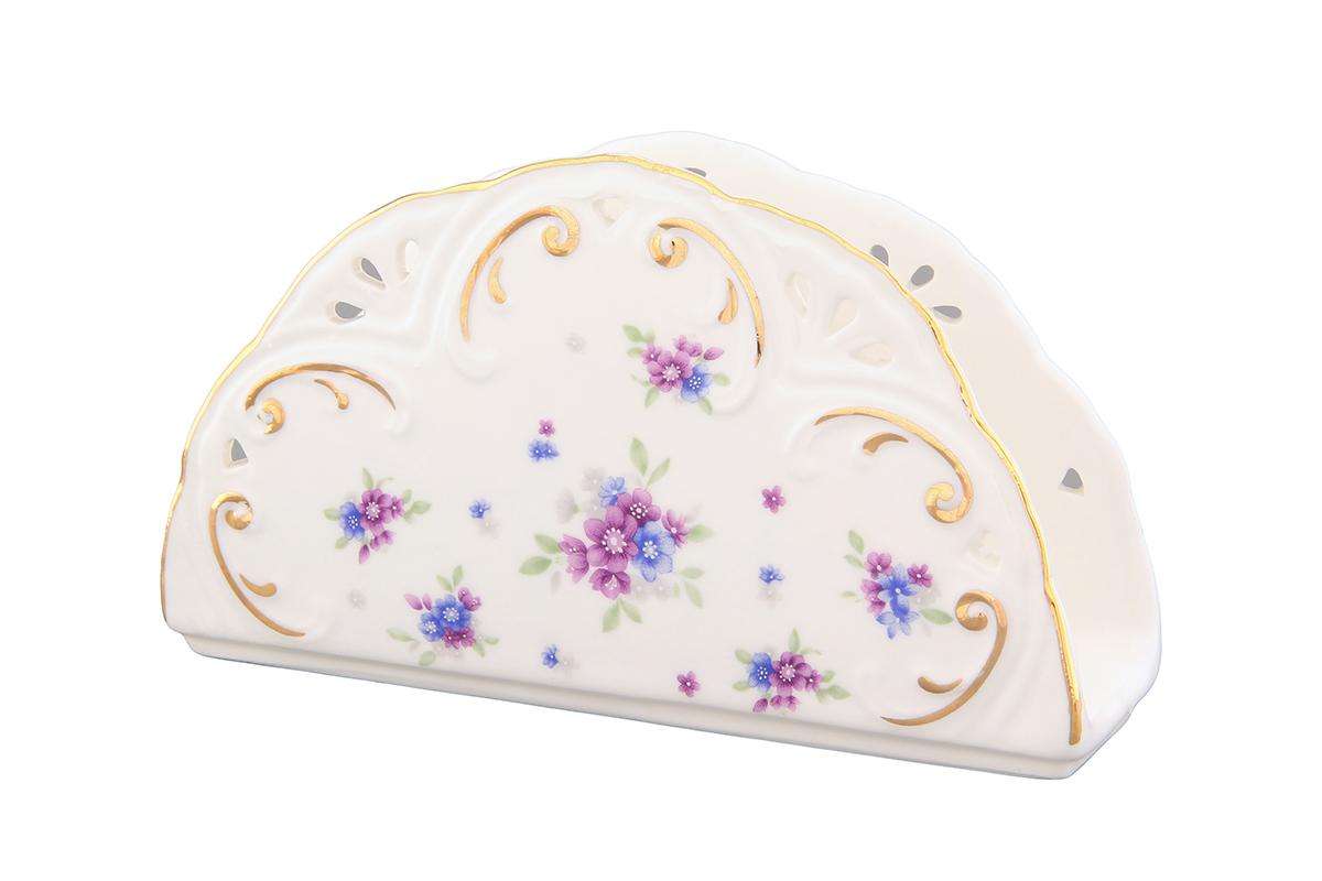 Салфетница Elan Gallery Сиреневый туман, 14 х 4 х 8 см420088Салфетница Elan Gallery Сиреневый туман изготовлена из высококачественной керамики и оформлена оригинальным рисунком. Она сочетает в себе изысканный дизайн с максимальной функциональностью. Компактная и в то же время вместительная салфетница станет не только украшением любого стола, но и отличным подарком.