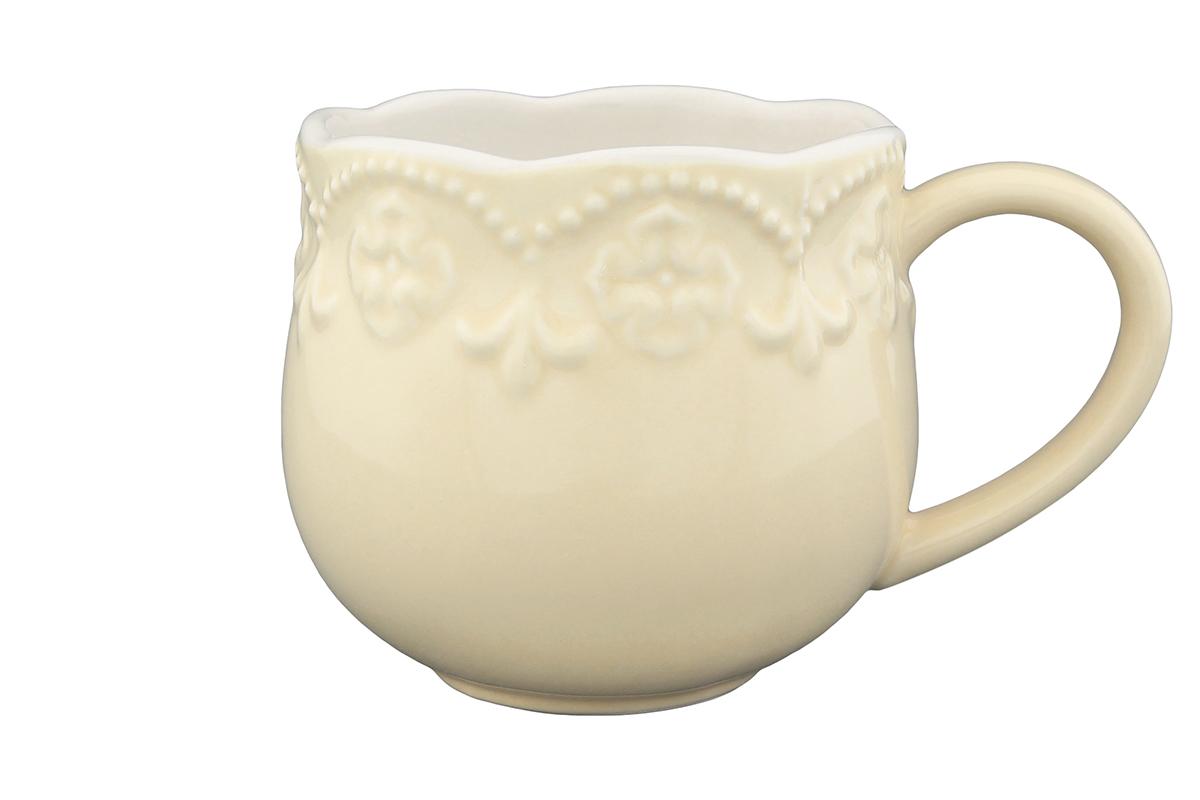 Кружка Elan Gallery Узор, цвет: молочный, 400 мл830078Кружка Elan Gallery Узор, изготовленная из высококачественной керамики, сочетает в себе элегантный дизайн с максимальной функциональностью. Такая кружка станет оригинальным подарком для ваших родных и близких. Не рекомендуется применять абразивные моющие средства. Не использовать в микроволновой печи. Диаметр кружки (по верхнему краю): 8,5 см.