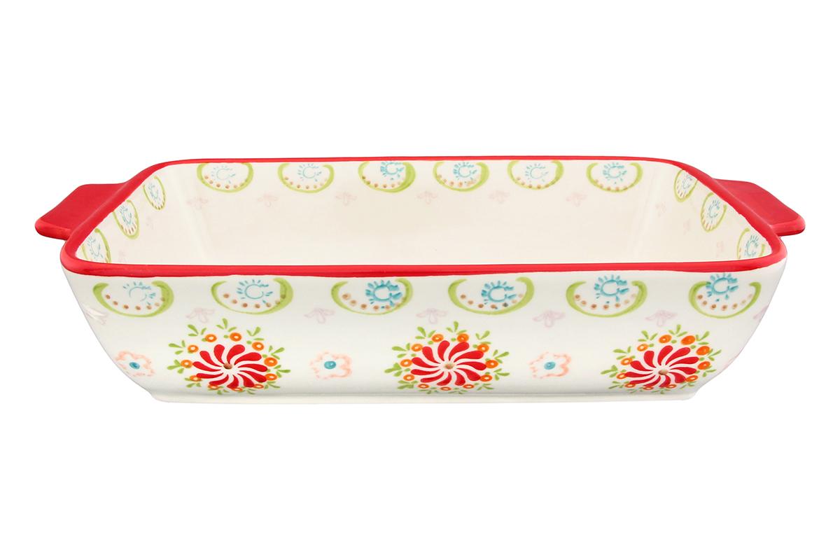 Блюдо для запекания Elan Gallery Солнечный цветок, прямоугольное, 28 х 16 см830140Блюдо для запекания Elan Gallery Солнечный цветок, изготовленное из высококачественной жаропрочной керамики, идеально подойдет для приготовления блюд в духовке, а также сервировки стола. Блюдо станет отличным дополнением к вашему кухонному инвентарю и подчеркнет прекрасный вкус. Можно использовать в духовом шкафу и микроволновой печи. Размер по верхнему краю (с учетом ручек): 28 х 16 см. Высота стенки: 6 см.