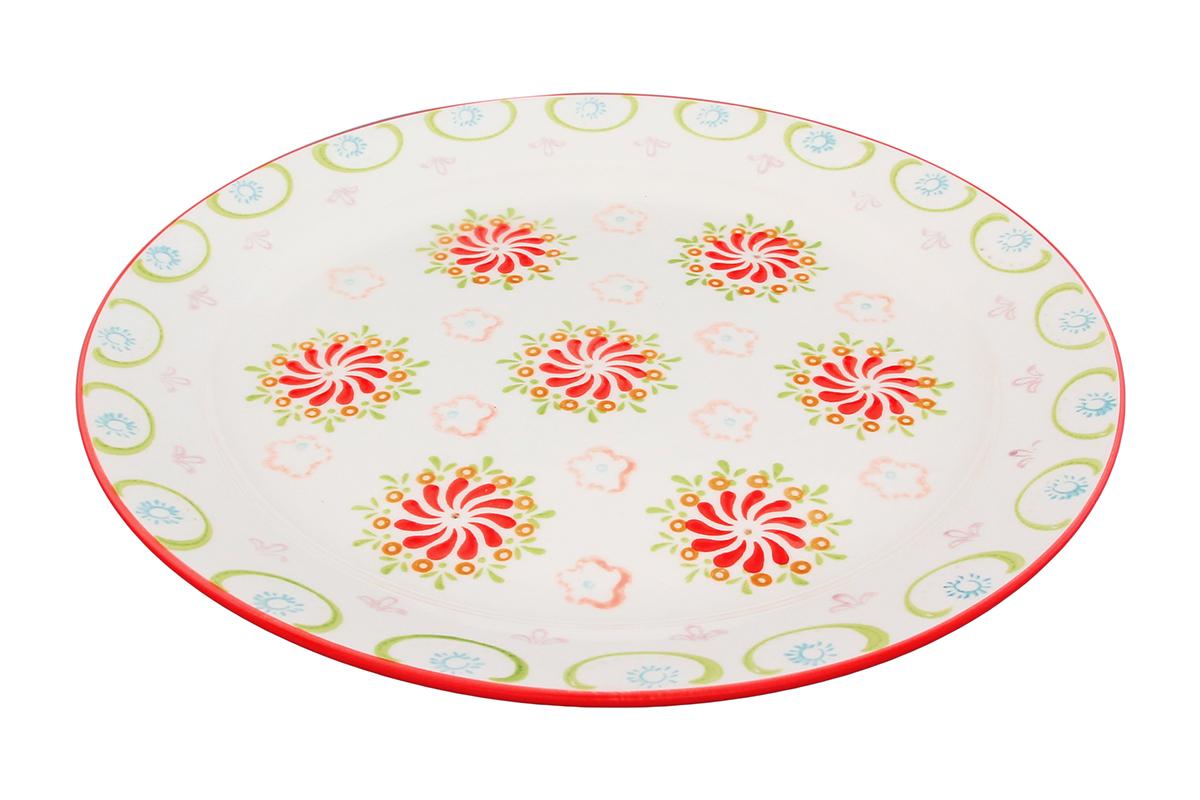 Блюдо Elan Gallery Солнечный цветок, диаметр 26,5 см830143Круглое блюдо Elan Gallery Солнечный цветок, изготовленное из керамики, прекрасно подойдет для подачи нарезок, закусок и других блюд. Изделие, оформленное цветочным рисунком, украсит сервировку вашего стола и подчеркнет прекрасный вкус хозяйки. Не рекомендуется применять абразивные моющие средства. Не использовать в микроволновой печи. Диаметр блюда (по верхнему краю): 26,5 см.