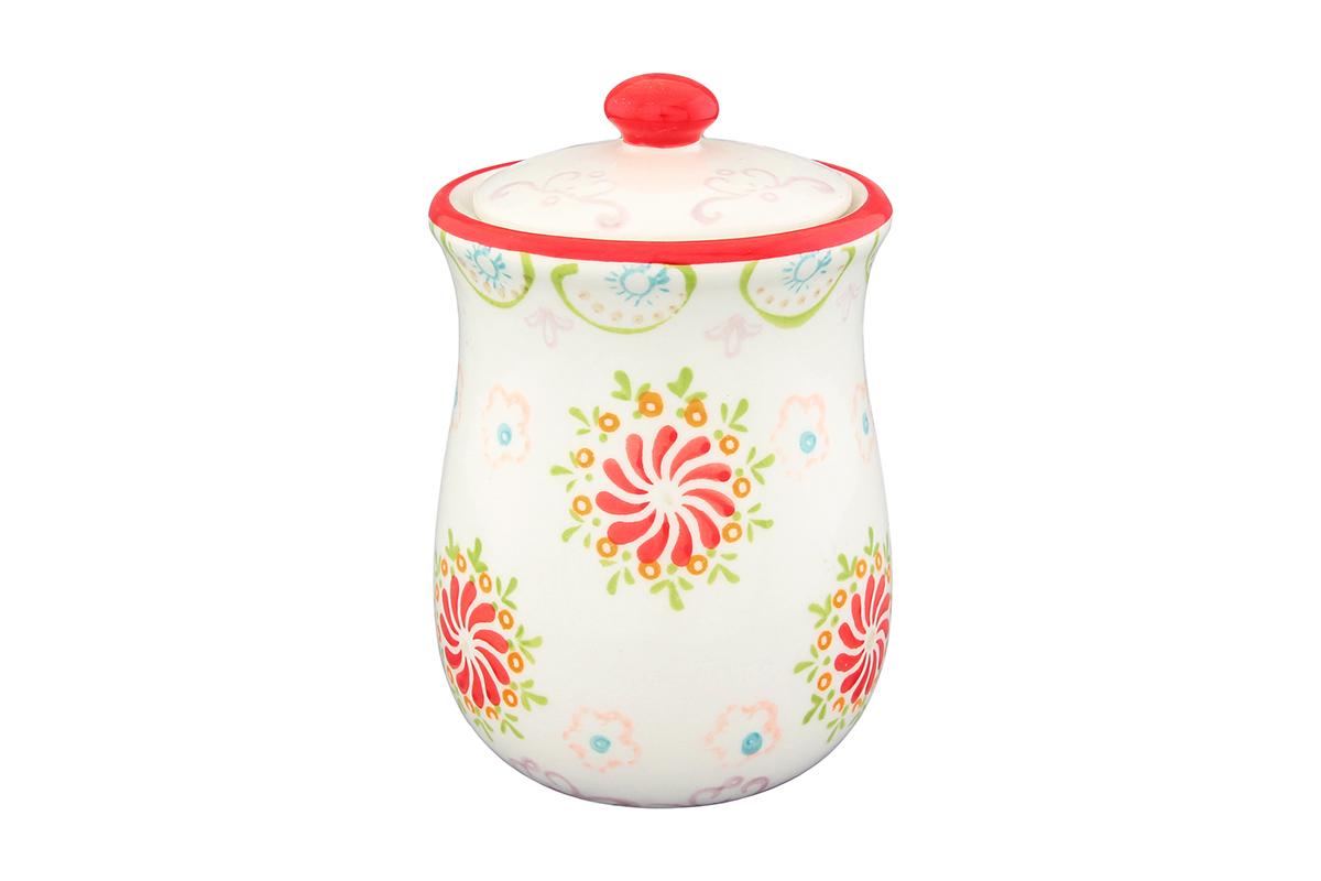 Горшочек для меда Elan Gallery Солнечный цветок, 380 мл830148Оригинальный горшочек для меда Elan Gallery Солнечный цветок, выполненный из высококачественной керамики, украсит вашу кухню, особенно на даче. Изделие снабжено плотно закрывающейся крышкой. Можно использовать для сыпучих продуктов - соли и сахара. Не использовать в микроволновой печи. Диаметр (по верхнему краю): 8 см. Высота (без учета крышки): 11 см.