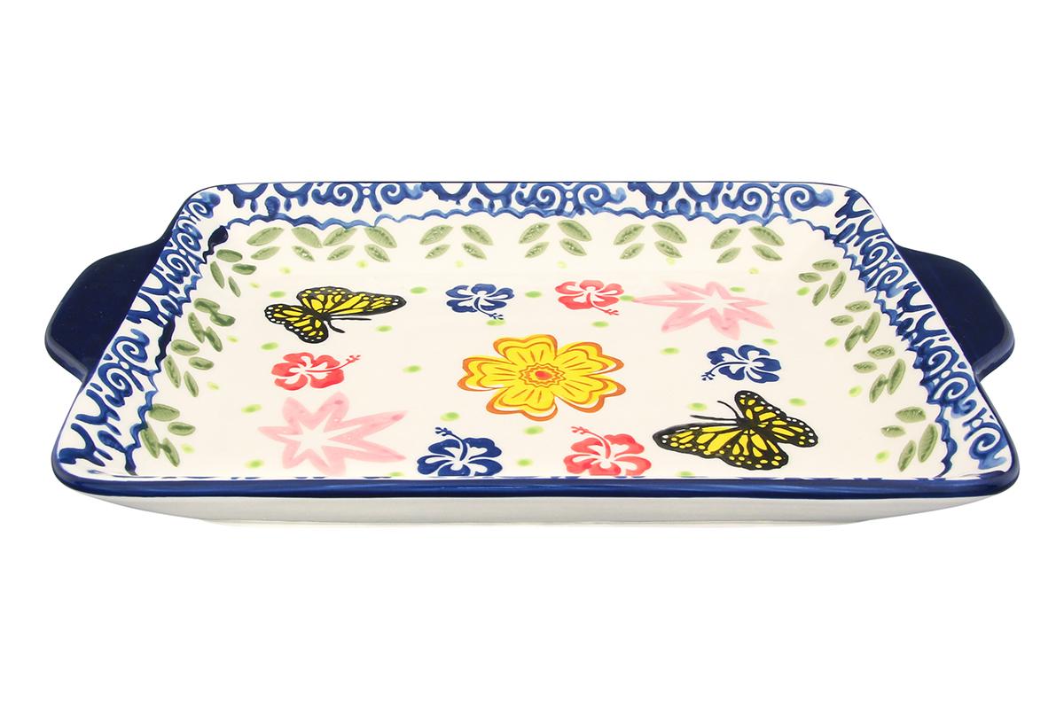 """Хлебница Elan Gallery """"Бабочки"""", 27 х 18,5 х 3 см"""