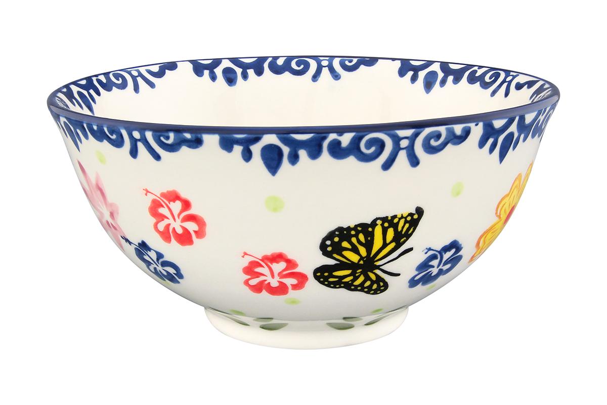 Салатник Elan Gallery Бабочки, 700 мл830172Великолепный круглый салатник Elan Gallery Бабочки, изготовленный из высококачественной керамики, прекрасно подойдет для подачи различных блюд: закусок, салатов или фруктов. Такой салатник украсит ваш праздничный или обеденный стол, а оригинальное исполнение понравится любой хозяйке. Не рекомендуется применять абразивные моющие средства. Не использовать в микроволновой печи. Диаметр салатника (по верхнему краю): 16 см.