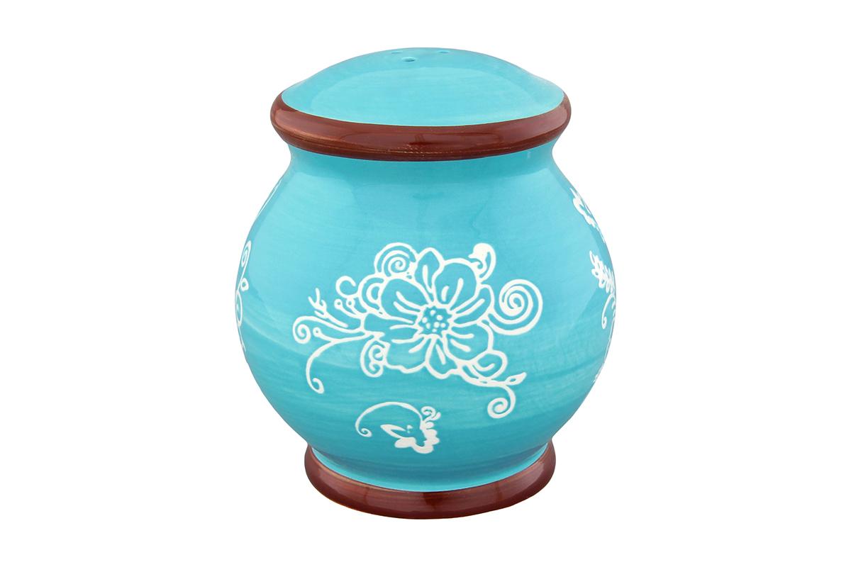 Солонка Elan Gallery Цветочная симфония, цвет: белый, голубой, 8 х 8 х 9 см830204Оригинальная солонка Elan Gallery Цветочная симфония изготовлена из высококачественной керамики. Изделие имеет три отверстия для высыпания специй. На дне располагается отверстие, позволяющее наполнить емкость, которое снабжено силиконовой вставкой. Солонка Elan Gallery Цветочная симфония украсит сервировку любого стола и подчеркнет прекрасный вкус хозяина. Не использовать в микроволновой печи.