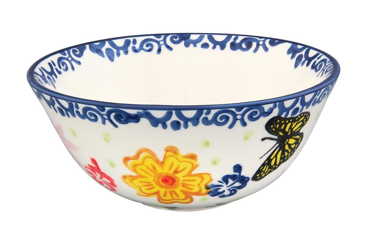 Салатник Elan Gallery Бабочки, 280 мл830215Великолепный круглый салатник Elan Gallery Бабочки, изготовленный из высококачественной керамики, прекрасно подойдет для подачи различных блюд: закусок, салатов или фруктов. Такой салатник украсит ваш праздничный или обеденный стол, а оригинальное исполнение понравится любой хозяйке. Не рекомендуется применять абразивные моющие средства. Не использовать в микроволновой печи. Диаметр салатника (по верхнему краю): 12,5 см.