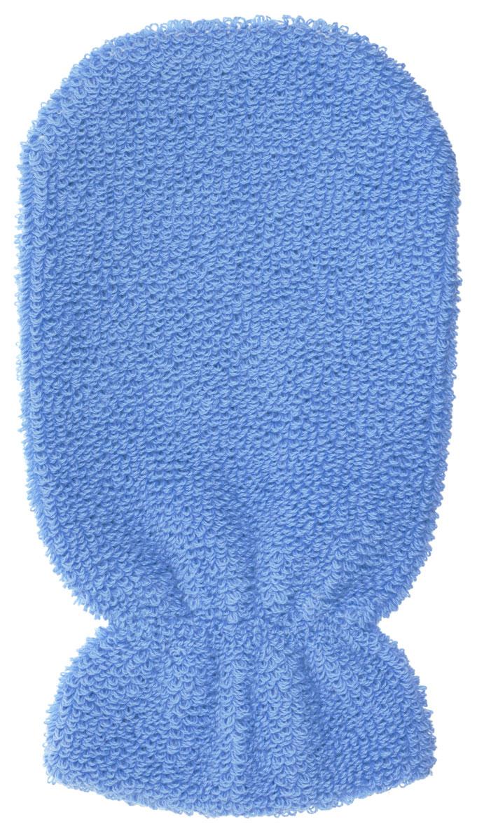 Мочалка-рукавица Riffi, мягкая, цвет: голубой401_голубой