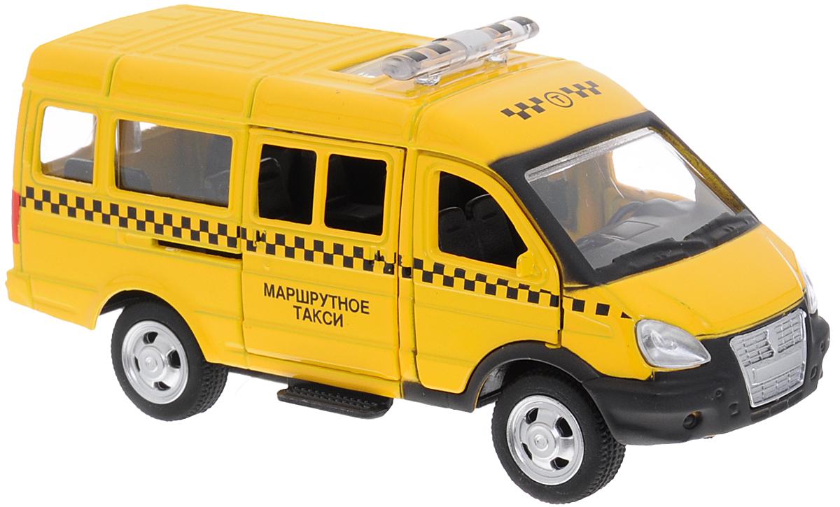 ТехноПарк Модель автомобиля Газель Маршрутное таксиX600-H09034-RМодель автомобиля ТехноПарк Газель: Маршрутное такси, выполненная из металла, пластика и резины, станет любимой игрушкой вашего малыша. Игрушка представляет собой модель маршрутного такси Газель в масштабе 1:50. Передние и боковая дверцы модели открываются, а прорезиненные колеса обеспечивают надежное сцепление с любой поверхностью пола. Модель оснащена инерционным ходом: достаточно немного отвести ее назад, а затем отпустить - машинка быстро поедет вперед. Ваш ребенок будет часами играть с этой машинкой, придумывая различные истории. Порадуйте его таким замечательным подарком!