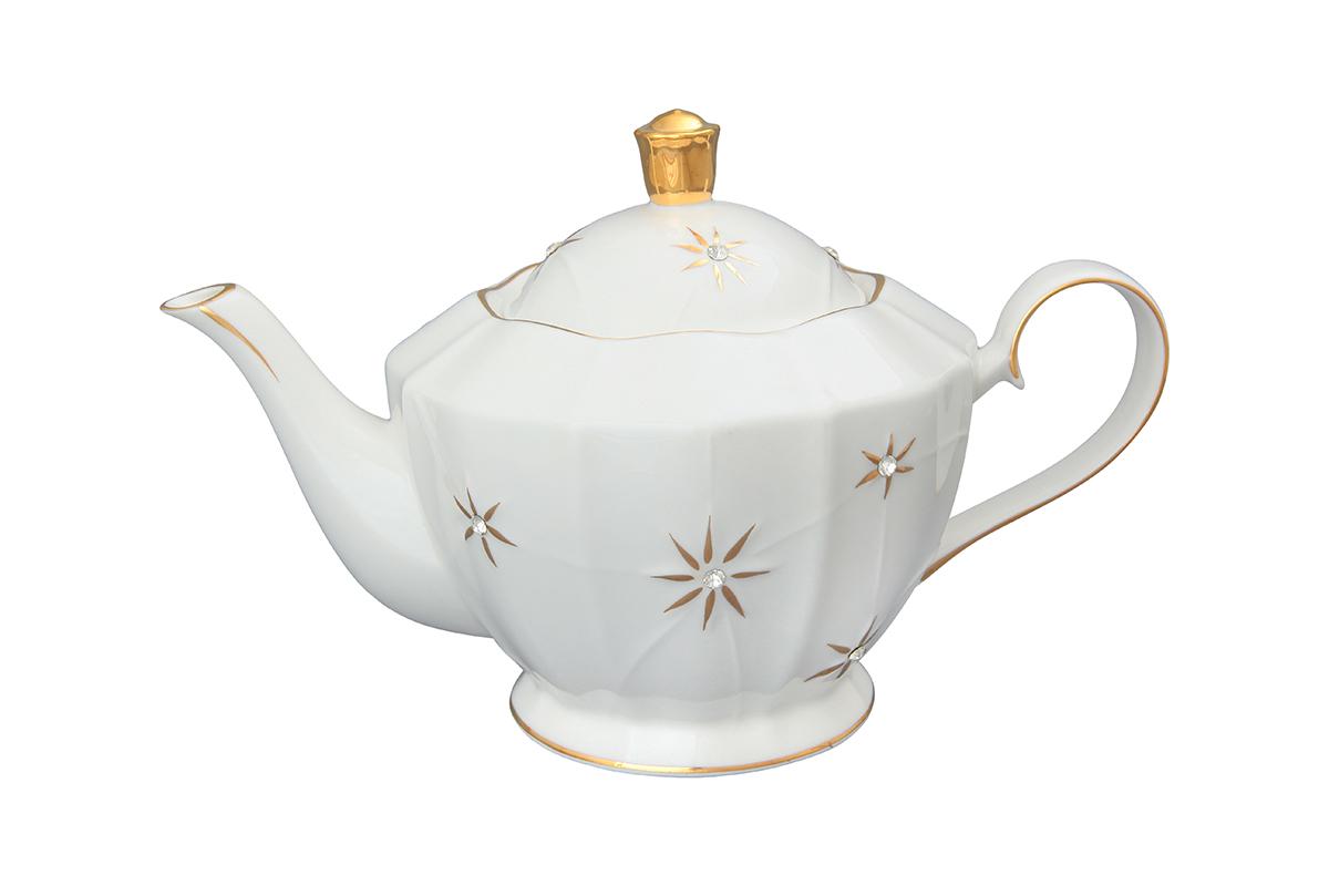 Чайник заварочный Elan Gallery Долина звезд, 1,2 л750139Заварочный чайник Elan Gallery Долина звезд изготовлен из высококачественного фарфора с гладким глазурованным покрытием. Изделие декорировано красочным узором и золотистой эмалью. Чайник снабжен удобной ручкой и широким носиком. В основании носика расположены фильтрующие отверстия от попадания чаинок в чашку. Изысканный заварочный чайник украсит сервировку стола к чаепитию. Благодаря красивому утонченному дизайну и качеству исполнения он станет хорошим подарком друзьям и близким. Не рекомендуется применять абразивные моющие средства. Не использовать в микроволновой печи. Диаметр чайника (по верхнему краю): 10,5 см. Высота чайника (без учета крышки): 13 см.