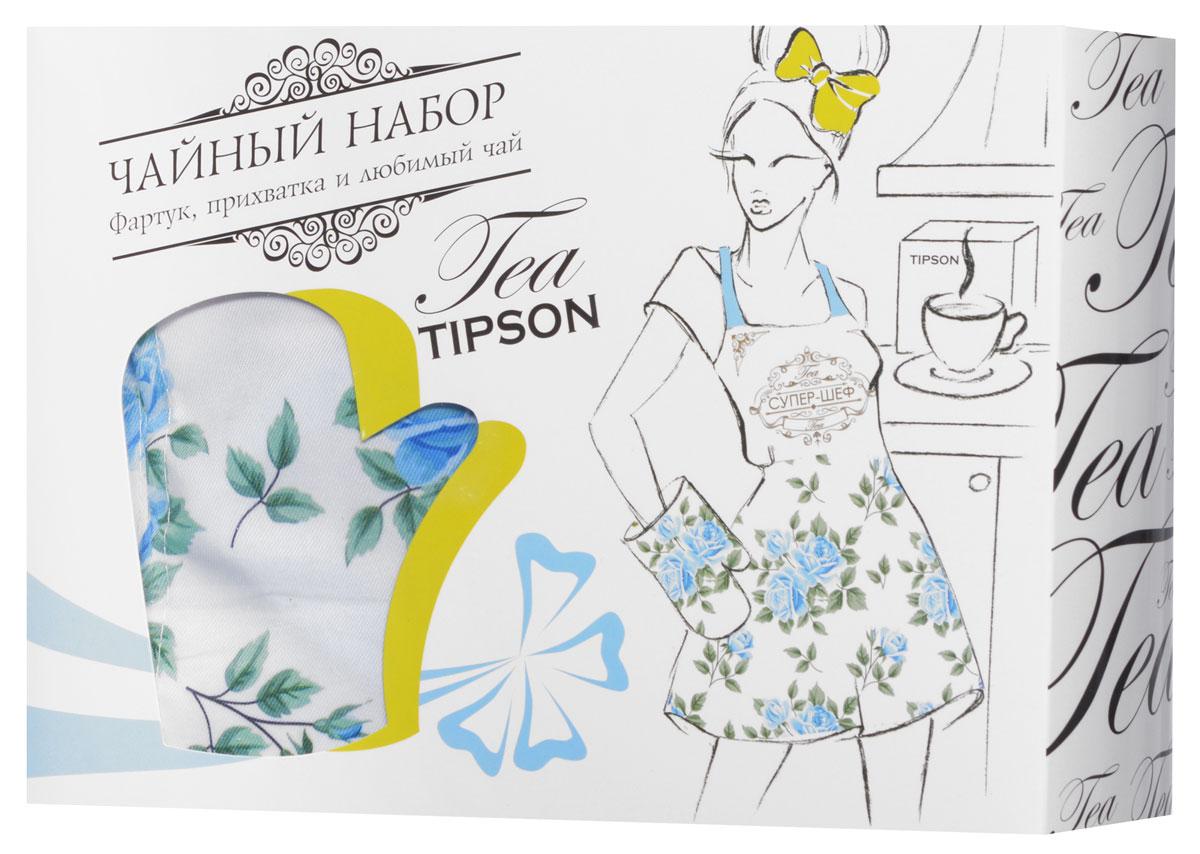 """Tipson Подарочный набор """"Вдохновение"""" черный чай Ceylon №1 и дизайнерский фартук с прихваткой в подарок, 85 г 10059-00"""