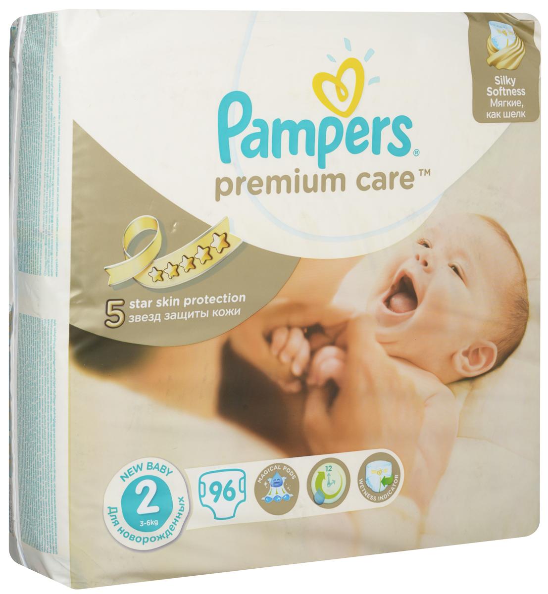 Pampers Premium Care Подгузники 2 3-6 кг 96 штPA-81534452Подгузники Pampers Premium Care - лучшие подгузники, которые обеспечивают защиту кожи 5 звезд и дарят непревзойденную мягкость шелка. Это первые и единственные подгузники с впитывающими каналами, обеспечивающими до 12 часов сухости. Мягкие, как шелк - нежная ромбовидная текстура внутреннего слоя создает ощущение первоклассной мягкости и воздушности. Имеют впитывающие каналы - уникальная технология впитывающего слоя (три впитывающих канала) помогают равномерно распределять влагу по поверхности подгузника, обеспечивая сухость до 12 часов. Дышащие материалы - благодаря особым микропорам внешний слой Pampers Premium Care обеспечивает естественную циркуляцию воздуха, снижая уровень испарений внутри подгузника, и, как следствие, уменьшая риск возникновения дерматита. Индикатор влаги - специальная полоска, которая меняет желтый цвет на синий, подсказывает, когда нужно сменить подгузник. Комфортно прилегают к пупку - специальный вырез в передней части подгузника позволяет...