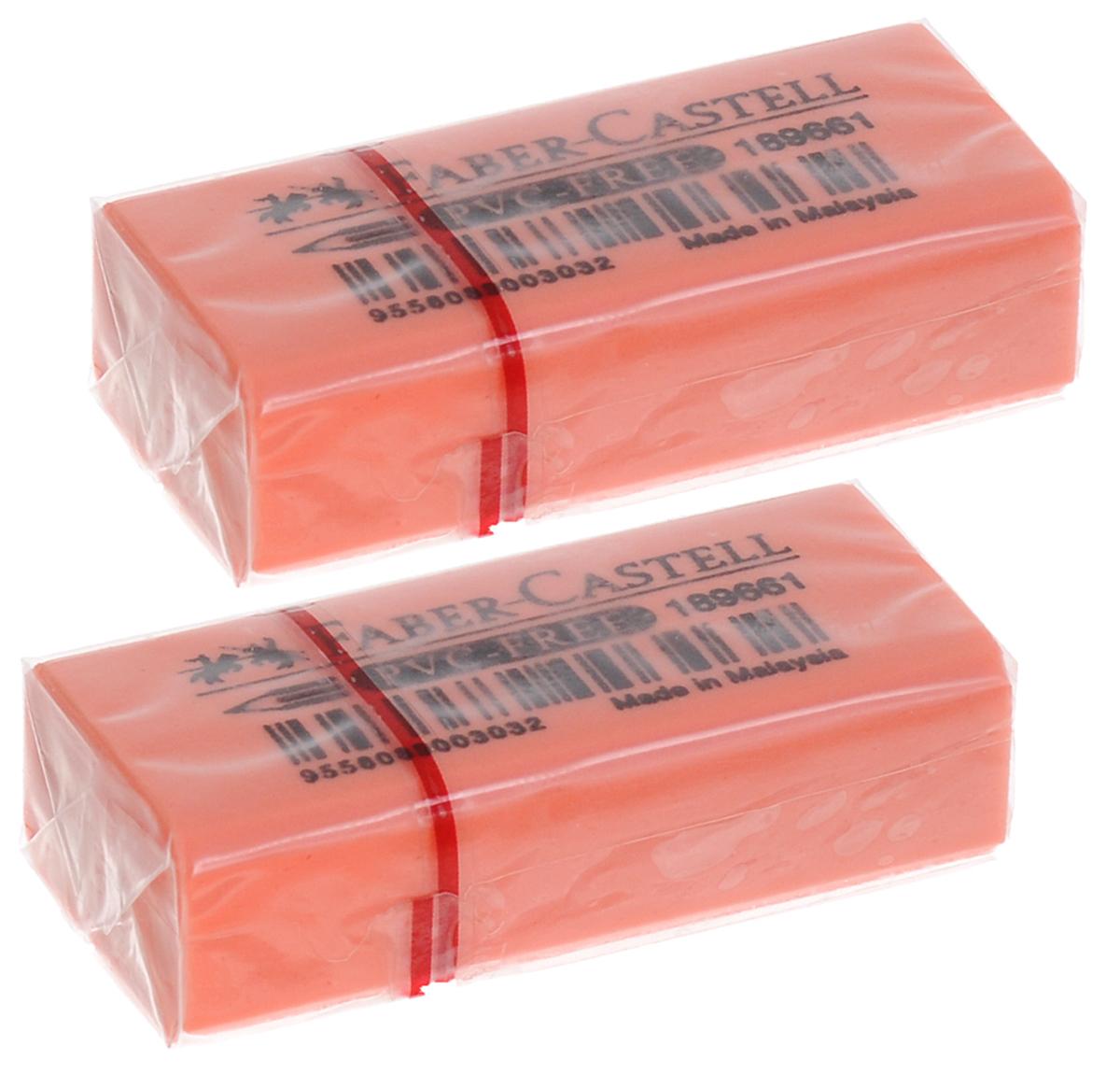 Faber-Castell Ластик флуоресцентный цвет оранжевый 2 шт263397_оранжевыйЛастик флуоресцентный Faber-Castell станет незаменимым аксессуаром на рабочем столе не только школьника или студента, но и офисного работника. Ластик не оставляет грязных разводов. Кроме того высококачественный ластик не содержит ПВХ. Не повреждает бумагу даже при многократном стирании. В наборе 2 ластика.