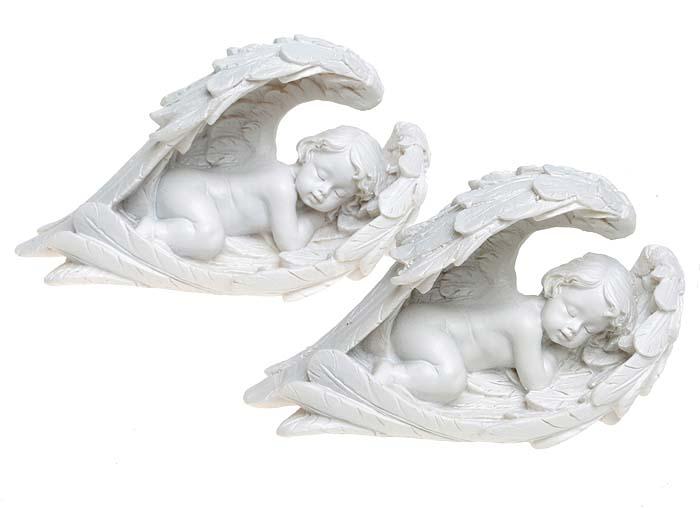 Миниатюрные парные статуэтки Спящие ангелы для украшения интерьера. Смола, ручная работа. Puckator, Великобритания, 2000-е гг.pokka-2843-11-2Миниатюрные парные статуэтки, настольный декор Спящие ангелы. Смола, ручная работа. Puckator, Великобритания, 2000-е гг. Высота - 7 см. Сохранность превосходная, изделие новое.