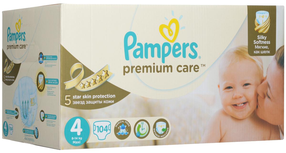 Pampers Подгузники Premium Care 8-14 кг (размер 4) 104 шт