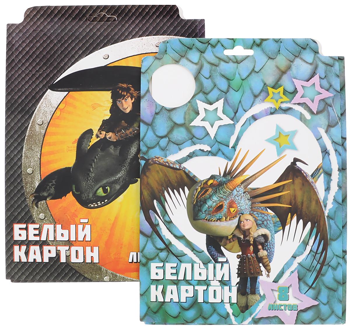 Action! Картон белый Dragons 8 листов 2 штDR-AWP-8/8_черный/зеленыйКартон мелованный белый Action! Dragons позволит вашему ребенку создавать всевозможные аппликации и поделки. Набор состоит из 8 листов картона белого цвета формата А4. Листы упакованы в оригинальную картонную папку, оформленную изображением героев Dragons. Создание поделок из картона поможет ребенку в развитии творческих способностей, кроме того, это увлекательный досуг. В комплекте 2 набора по 8 листов.