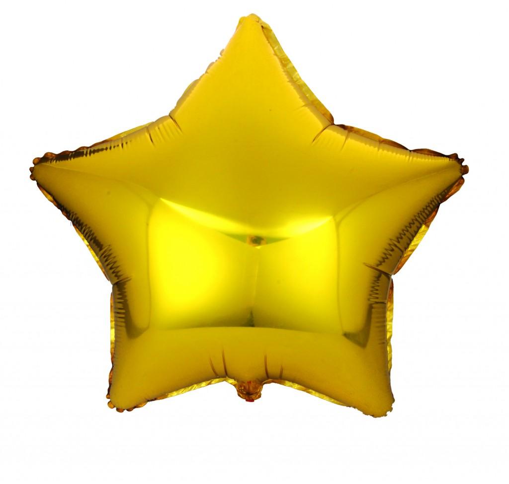 Action! Шар фольгированный Звезда цвет золотистый