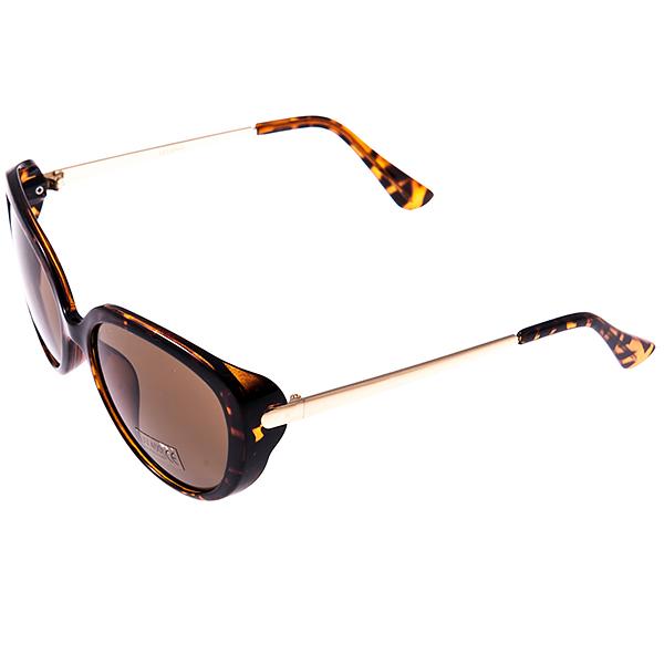 Солнцезащитные очки женские Selena, цвет: коричневый, золотой. 8002906180029061Солнцезащитные женские очки Selena выполнены из высококачественного пластика с элементами из металла, оправа оформлена принтом леопард. Линзы данных очков с высокоэффективным фильтром UV-400 Protection обеспечивают полную защиту от ультрафиолетовых лучей. Используемый пластик не искажает изображение, не подвержен нагреванию и вредному воздействию солнечных лучей. Такие очки защитят глаза от ультрафиолетовых лучей, подчеркнут вашу индивидуальность и сделают ваш образ завершенным.