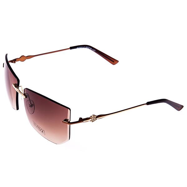 Солнцезащитные очки женские Selena, цвет: коричневый, золотой. 8003021180030211Солнцезащитные женские очки Selena выполнены из металла с элементами из высококачественного пластика, дужки оформлены декоративными элементами. Линзы данных очков с высокоэффективным фильтром UV-400 Proteсtion обеспечивают полную защиту от ультрафиолетовых лучей. Используемый пластик не искажает изображение, не подвержен нагреванию и вредному воздействию солнечных лучей. Такие очки защитят глаза от ультрафиолетовых лучей, подчеркнут вашу индивидуальность и сделают ваш образ завершенным.