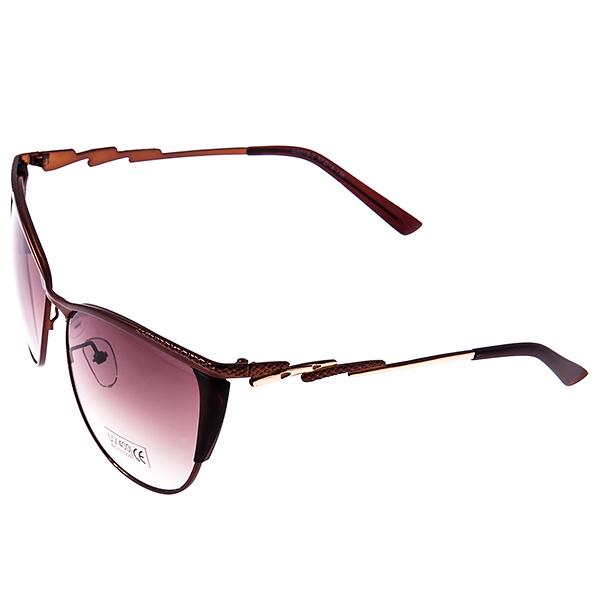 Солнцезащитные очки женские Selena, цвет: коричневый. 8003036180030361Солнцезащитные женские очки Selena выполнены из металла с элементами из высококачественного пластика, дужки дополнены декоративными элементами. Линзы данных очков с высокоэффективным фильтром UV-400 Protetion обеспечивают полную защиту от ультрафиолетовых лучей. Используемый пластик не искажает изображение, не подвержен нагреванию и вредному воздействию солнечных лучей. Такие очки защитят глаза от ультрафиолетовых лучей, подчеркнут вашу индивидуальность и сделают ваш образ завершенным.