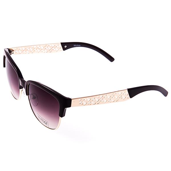 Солнцезащитные очки женские Selena, цвет: темно-коричневый. 8003123180031231Солнцезащитные женские очки Selena выполнены из металла и высококачественного пластика, дужки оформлены декоративными элементами. Линзы данных очков с высокоэффективным фильтром UV-400 Protetion обеспечивают полную защиту от ультрафиолетовых лучей. Используемый пластик не искажает изображение, не подвержен нагреванию и вредному воздействию солнечных лучей. Такие очки защитят глаза от ультрафиолетовых лучей, подчеркнут вашу индивидуальность и сделают ваш образ завершенным.