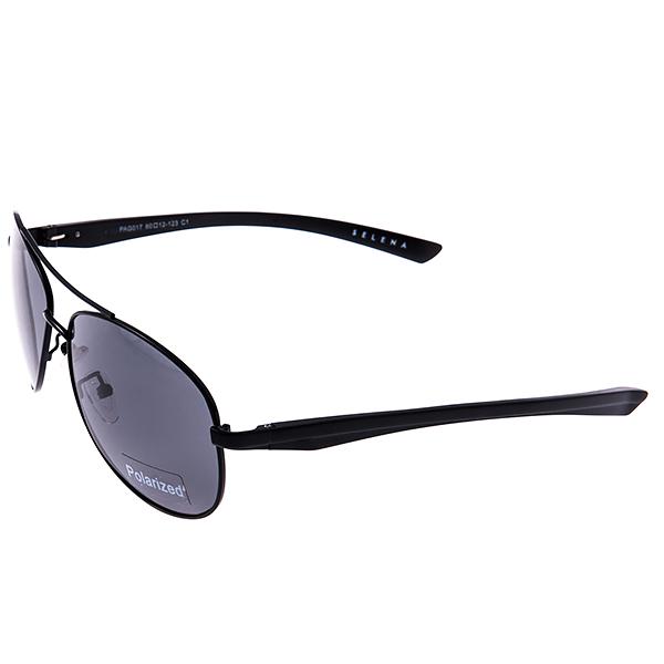 Солнцезащитные очки Selena, цвет: черный. 8003179180031791Универсальные солнцезащитные очки Selena выполнены из металла с элементами из высококачественного пластика. Линзы данных очков с высокоэффективным поляризационным покрытием блокируют слепящий эффект и обеспечивают полную защиту от ультрафиолетовых лучей. Используемый пластик не искажает изображение, не подвержен нагреванию и вредному воздействию солнечных лучей. Такие очки защитят глаза от ультрафиолетовых лучей, подчеркнут вашу индивидуальность и сделают ваш образ завершенным.