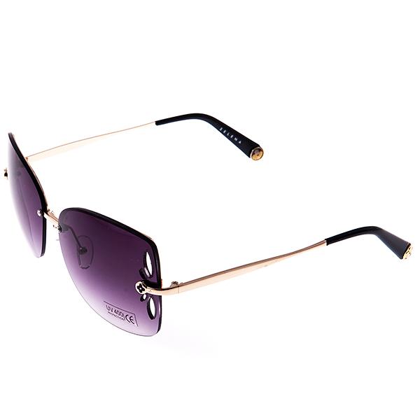Солнцезащитные очки женские Selena, цвет: золотой, темно-коричневый. 8003241180032411Солнцезащитные женские очки Selena выполнены из металла с элементами из высококачественного пластика, линзы дополнены декоративными отверстиями, а дужки оформлены декоративными элементами. Линзы данных очков с высокоэффективным фильтром UV-400 Protection обеспечивают полную защиту от ультрафиолетовых лучей. Используемый пластик не искажает изображение, не подвержен нагреванию и вредному воздействию солнечных лучей. Такие очки защитят глаза от ультрафиолетовых лучей, подчеркнут вашу индивидуальность и сделают ваш образ завершенным.