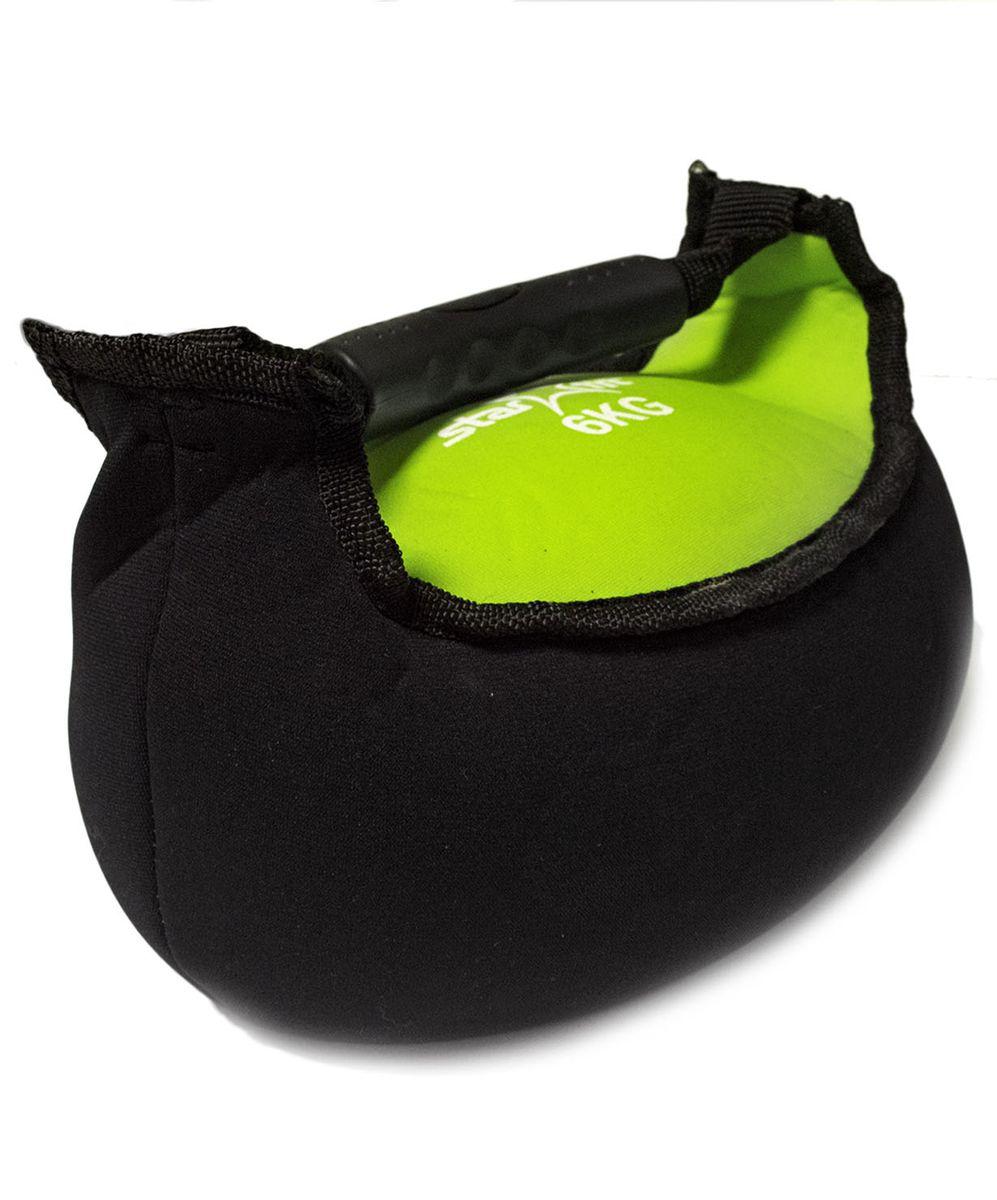 Гиря мягкая неопреновая Starfit, цвет: черный, зеленый, 6 кгУТ-00007116Гиря Star Fit выполнена из прочного неопрена с наполнителем из песка. Она предназначена для проработки различных групп мышц. Гиря оснащена удобной пластиковой ручкой. Гири - это самое простое и самое гениальное спортивное оборудование для развития мышечной массы. Правильно поставленные тренировки с ней позволяют не только нарастить мышечную массу, но и развить повышенную выносливость, укрепляют сердечнососудистую систему и костно-мышечный аппарат. Вес гири: 6 кг.