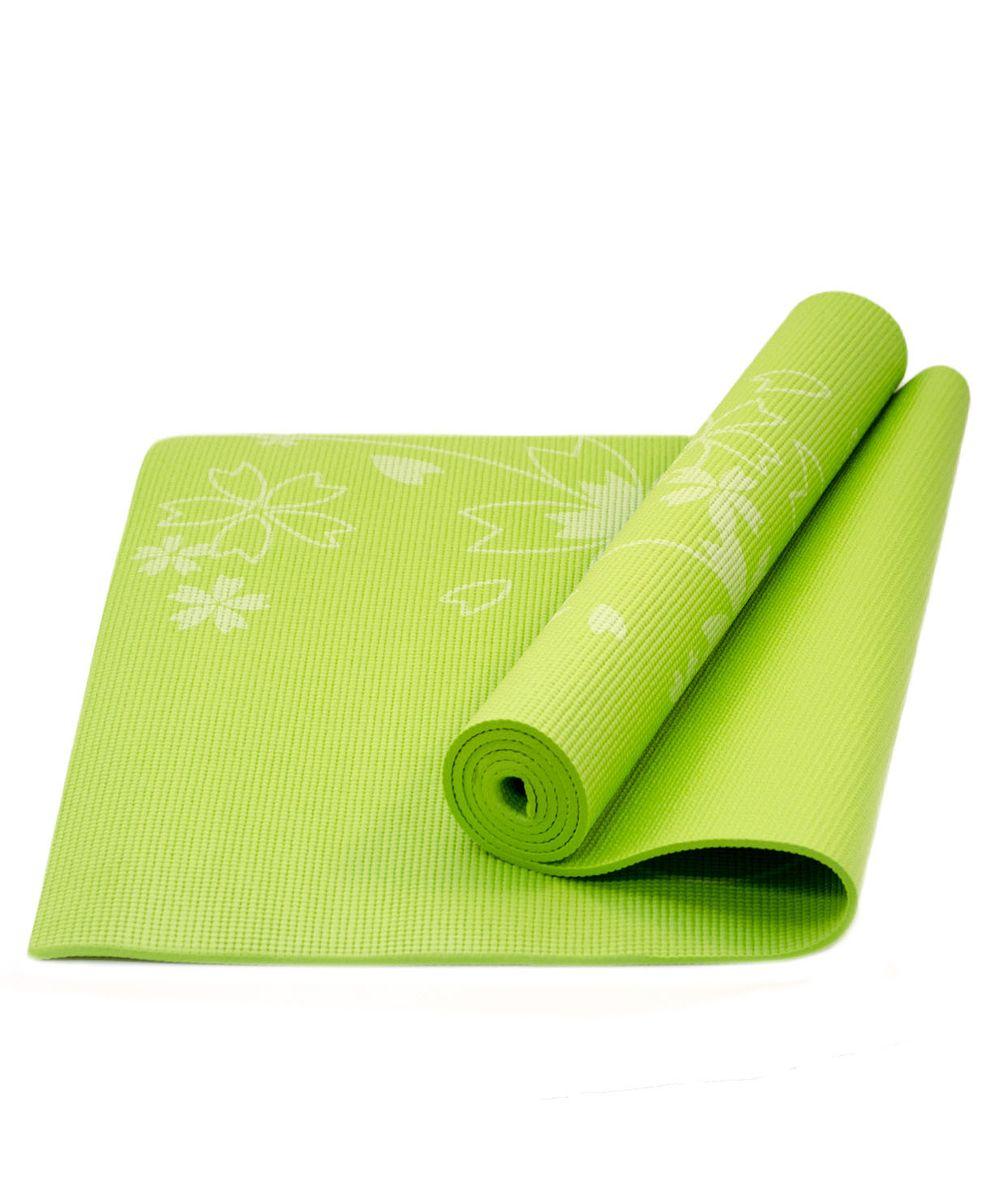 Коврик для йоги Starfit FM-102, цвет: зеленый, 173 х 61 х 0,6 смУТ-00007238Коврик для йоги Star Fit FM-102 - это незаменимый аксессуар для любого спортсмена как во время тренировки, так и во время пре-стретчинга (растяжки до тренировки) и стретчинга (растяжки после тренировки). Выполнен из высококачественного ПВХ и оформлен оригинальным рисунком в виде цветов. Коврик используется в фитнесе, йоге, функциональном тренинге. Его используют спортсмены различных видов спорта в своем тренировочном процессе. Предпочтительно использовать без обуви. Если в обуви, то с мягкой подошвой, чтобы избежать разрыва поверхности коврика.
