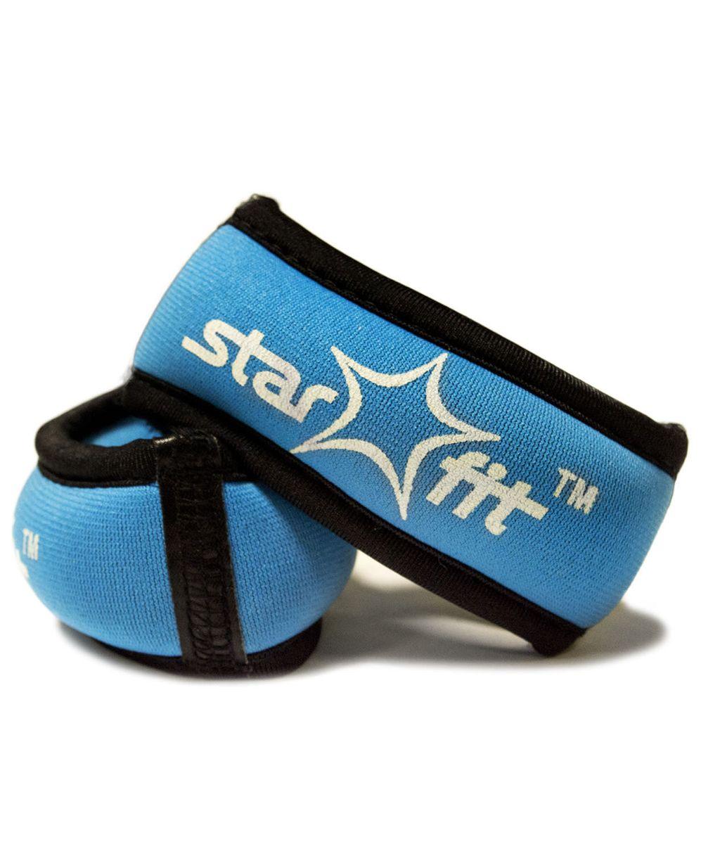 Утяжелители Star Fit, 0,25 кг, цвет: голубой, черный. WT-101УТ-00007275Утяжелители Браслет специально предназначенные для занятий фитнесом и гимнастикой.