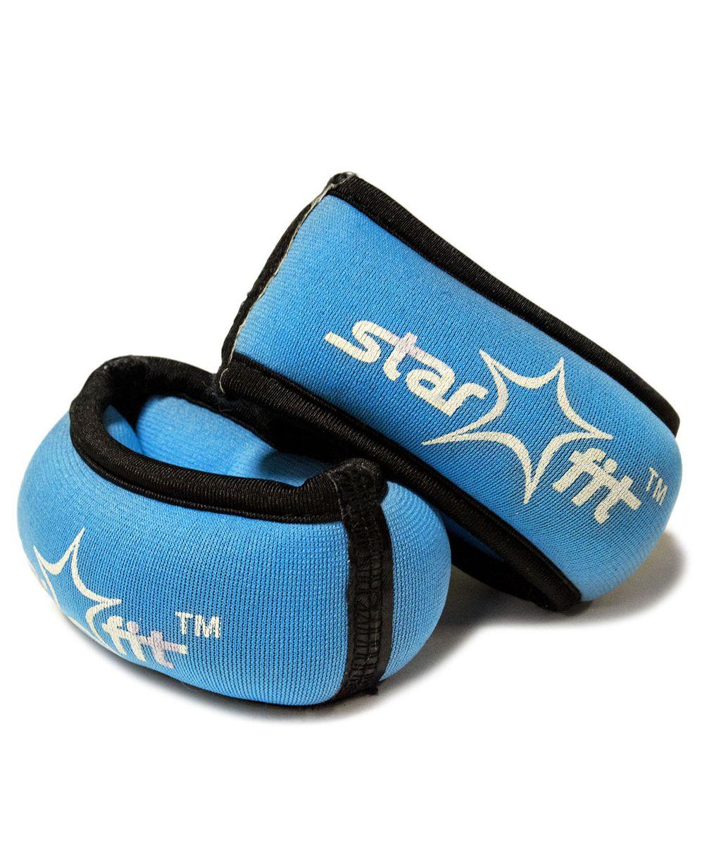 Утяжелители для рук Starfit WT-101, цвет: синий, черный, 0,5 кг, 2 штУТ-00007276WT-101 - это утяжелители на запястье с фиксацией на большой палец. Утяжелители помогут тренирующемуся быстрее сбросить лишний вес, добавить отягощения в тренировку мышц, будь это групповая тренировка, функциональный тренинг, бодибилдинг или спортивные единоборства. Утяжелители имеют компактный размер и не займут много места при хранении и переноске. Оригинальный современный дизайн, приятное цветовое оформление и качество самих утяжелителей будут несомненно радовать вас во время тренировок! Вес одного утяжелителя: 0,5 кг. Количество утяжелителей: 2 шт.