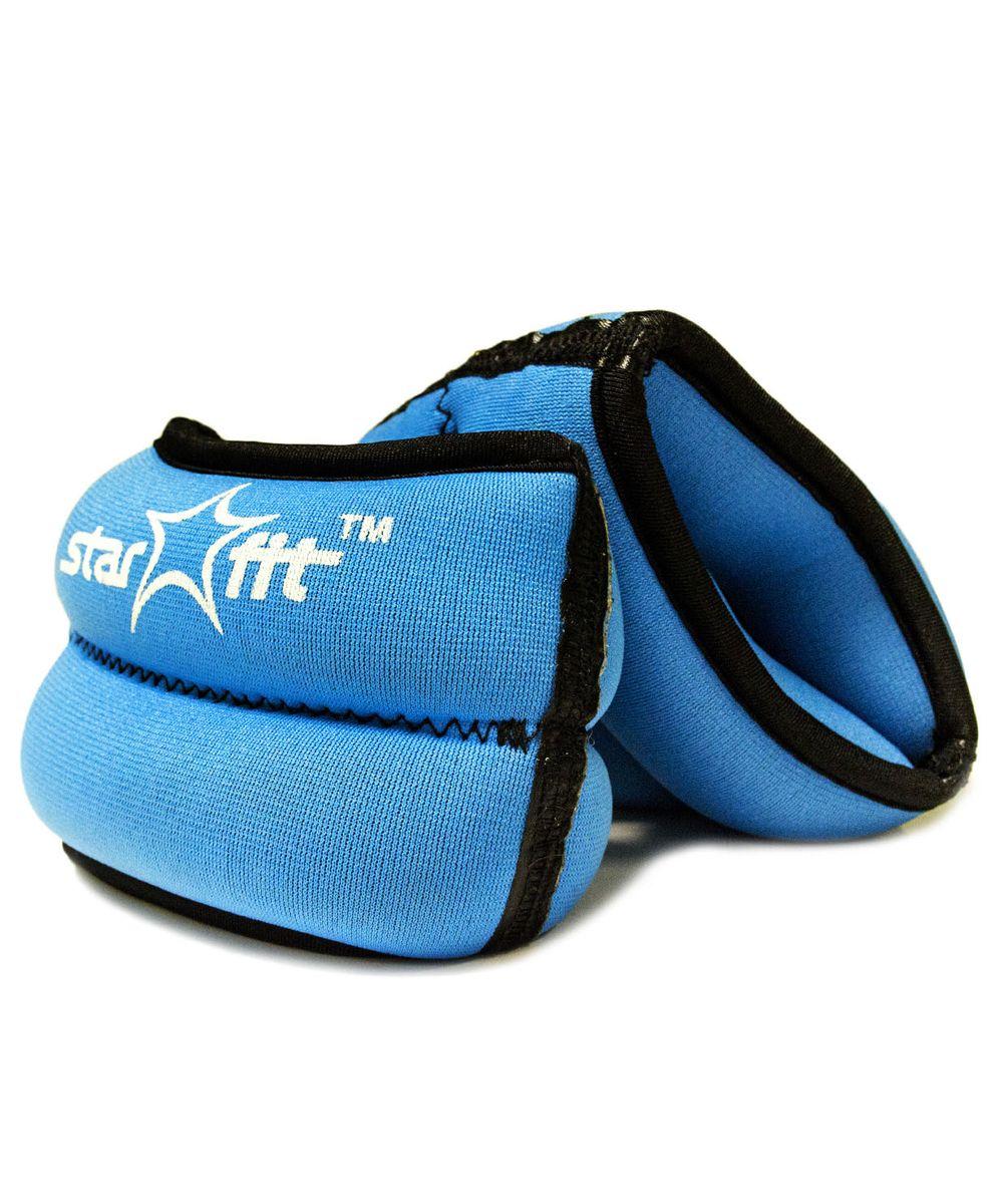 Утяжелители Star Fit, 1 кг, цвет: синий, черный. WT-101УТ-00007278Утяжелители специально предназначенные для занятий фитнесом и гимнастикой