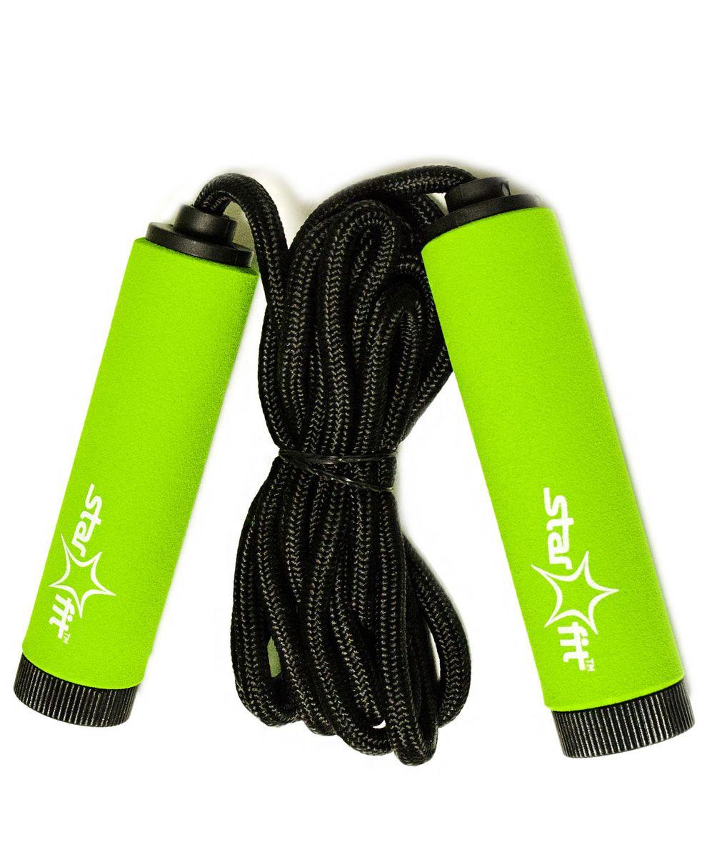 Скакалка Star Fit, цвет: зеленый, черный. RP-105УТ-00007306Скакалка STAR FIT RP-104- это скакалка от популярного австралийского бренда Star Fit.