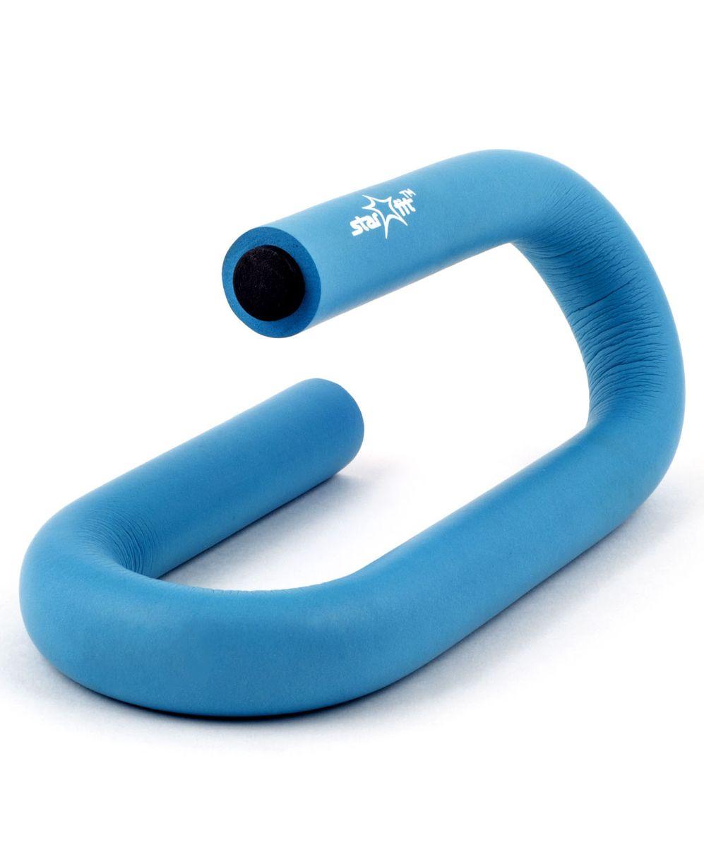 Упоры для отжиманий Starfit BA-301, S-образные, цвет: синий, 2 штУТ-00007323Упоры для отжиманий BA-301 выполнены из неопрена и металла. Традиционную технику выполнения отжиманий можно существенно дополнить, используя упоры для отжиманий - эффективный инструмент, который позволяет развивать и укреплять мышцы рук, груди и плечевого пояса, развивает выносливость. Максимальный вес пользователя: 110 кг.
