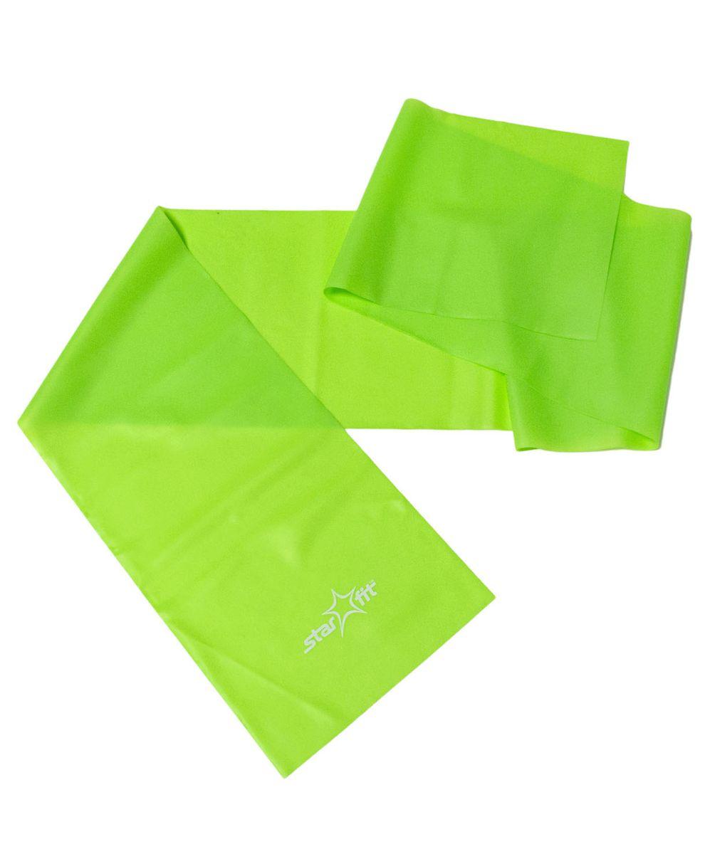 Эспандер ленточный Starfit ES-201, цвет: зеленый, 120 х 15 х 0,35 смУТ-00007329Эспандер ленточный ES-201 - это легкий портативный тренажер в виде ленты, выполненный из ПВХ. Тренажер поможет увеличить силу и выносливость, растянуть и укрепить мышцы. Изделие может также применяться для облегчения выполнения некоторых упражнений в йоге и пилатесе.